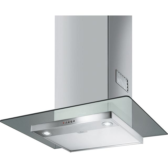 Smeg 60 cm Chimney Cooker Hood - Stainless Steel / Glass - B Rated