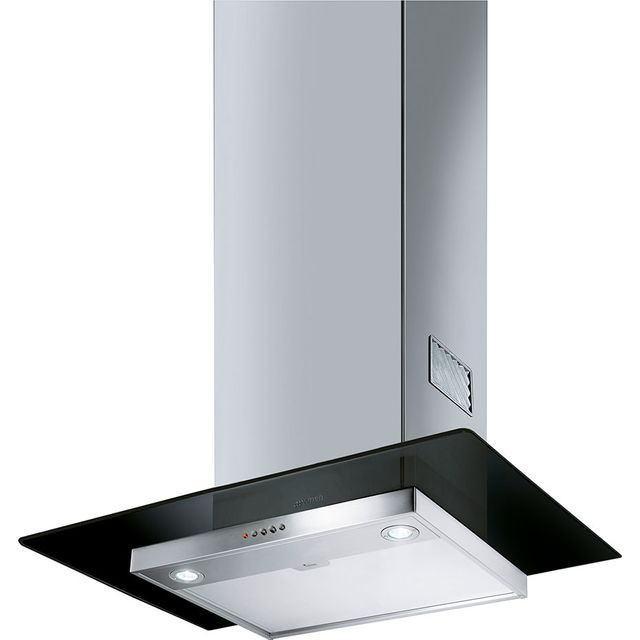 Smeg 60 cm Chimney Cooker Hood - Stainless Steel / Black Glass - B Rated