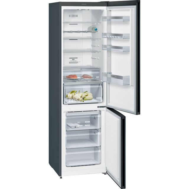 Siemens IQ-300 KG39N7XEDG 70/30 Frost Free Fridge Freezer - Black / Stainless Steel Look - A++ Rated