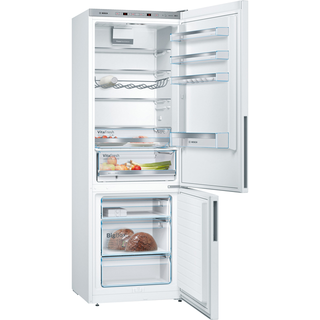 Bosch Serie 4 KGE49VI4AG 60/40 Fridge Freezer - Stainless Steel Effect - KGE49VI4AG_SSL - 2