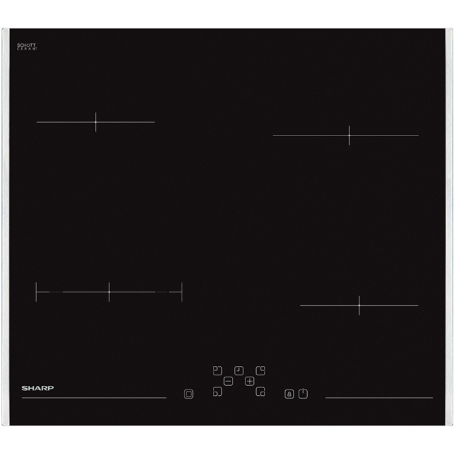 Sharp KH-6V08FT00-EU 59cm Induction Hob - Black - KH-6V08FT00-EU_BK - 1