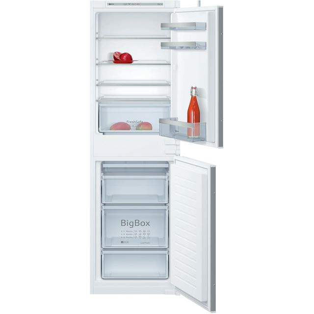 NEFF N50 KI5852SF0G Integrated 50/50 Frost Free Fridge Freezer with Sliding Door Fixing Kit – White – A++ Rated