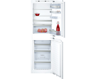 NEFF N70 KI7853D30G Integrated 50/50 Frost Free Fridge Freezer with Fixed Door Fixing Kit - White - A++ Rated - KI7853D30G_WH - 1