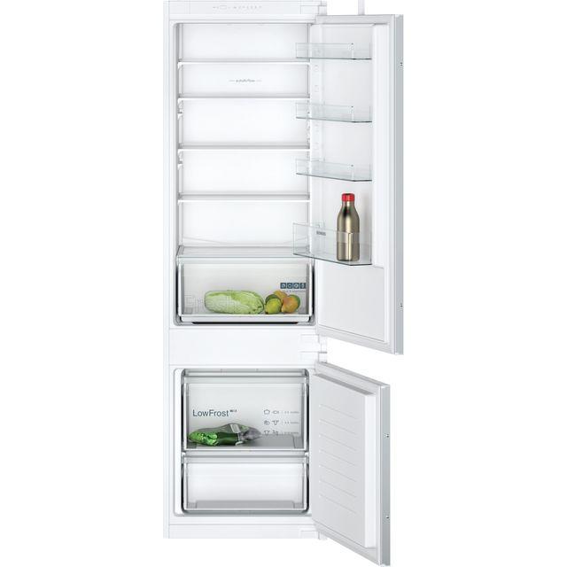 Siemens IQ-100 KI87VNSF0G Integrated 80/20 Fridge Freezer with Sliding Door Fixing Kit - White - A+ Rated