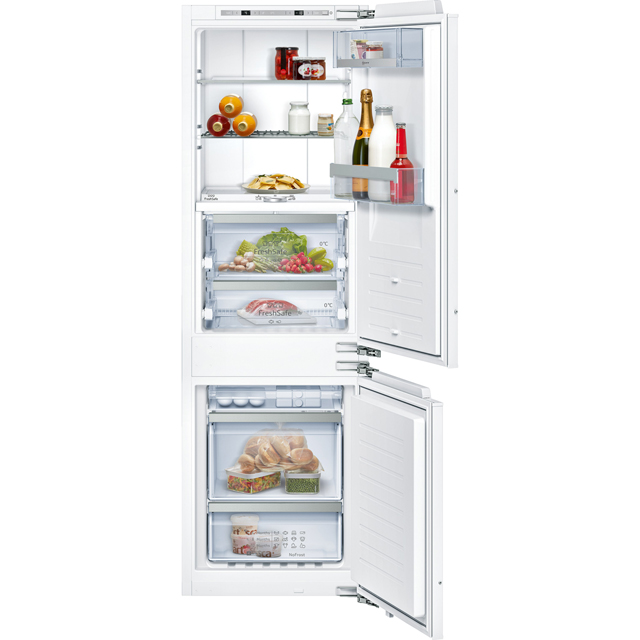 NEFF N90 KI8865D30 Wifi Connected Integrated 70/30 Frost Free Fridge Freezer with Fixed Door Fixing Kit - White - A++ Rated - KI8865D30_WH - 1