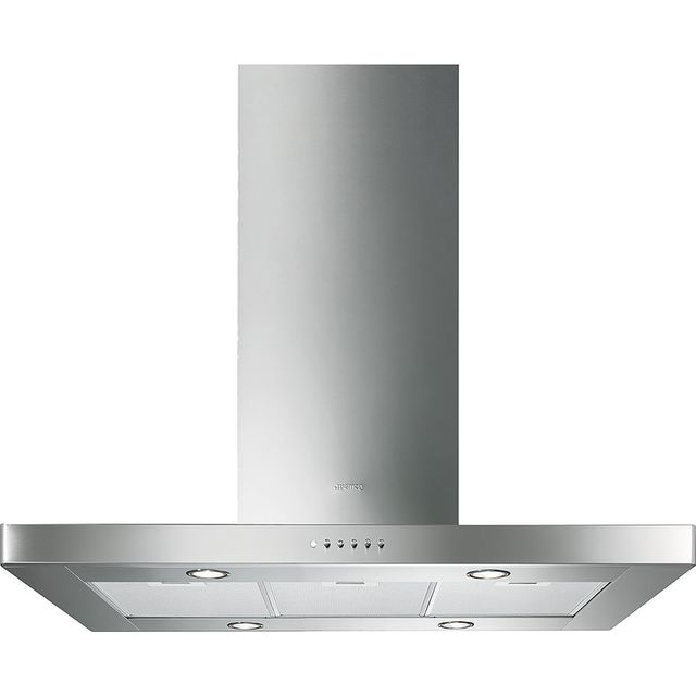 Smeg 90 cm Island Cooker Hood - Stainless Steel - B Rated