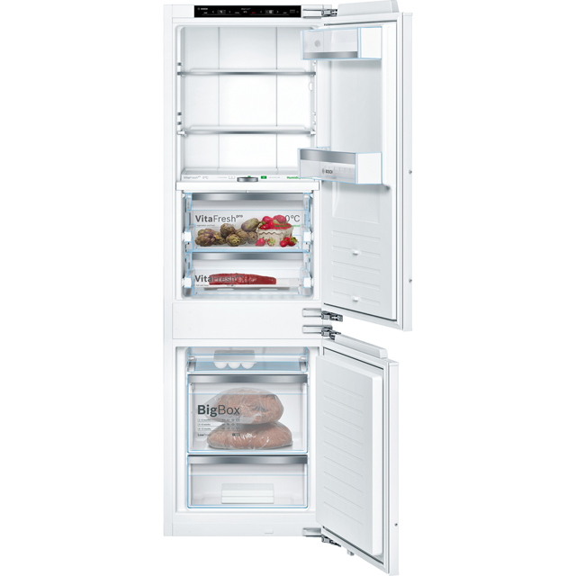 Bosch Serie 8 KIF86PF30 Integrated 70/30 Frost Free Fridge Freezer with Fixed Door Fixing Kit - White - A++ Rated - KIF86PF30_WH - 1