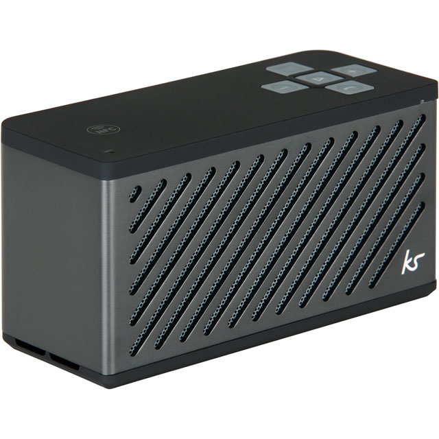 Kitsound Tilt Wireless Speaker - Gun Metal - KSTILGM - 1