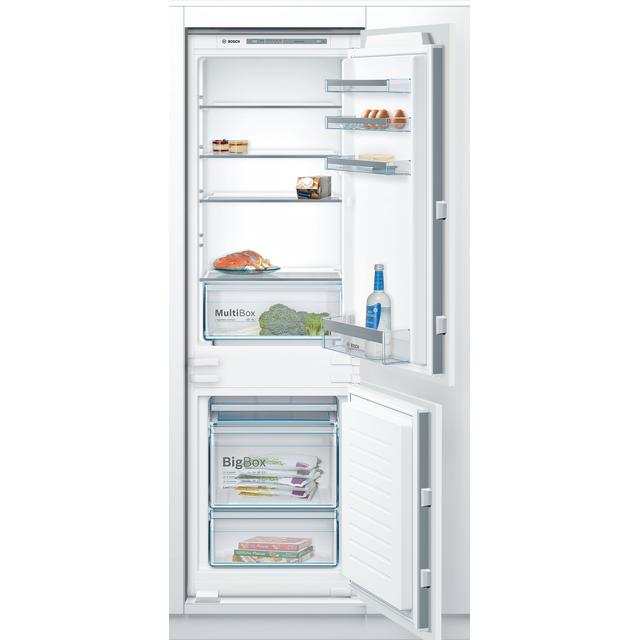 Bosch Serie 4 KIV86VSF0G Integrated 60/40 Fridge Freezer with Sliding Door Fixing Kit - White - A++ Rated