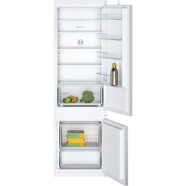 Bosch Serie 2 KIV87NSF0G Integrated 70/30 Fridge Freezer with Sliding Door Fixing Kit – White – A+ Rated