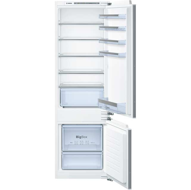 Bosch Serie 4 Integrated 70/30 Fridge Freezer with Fixed Door Fixing Kit - White - A++ Rated
