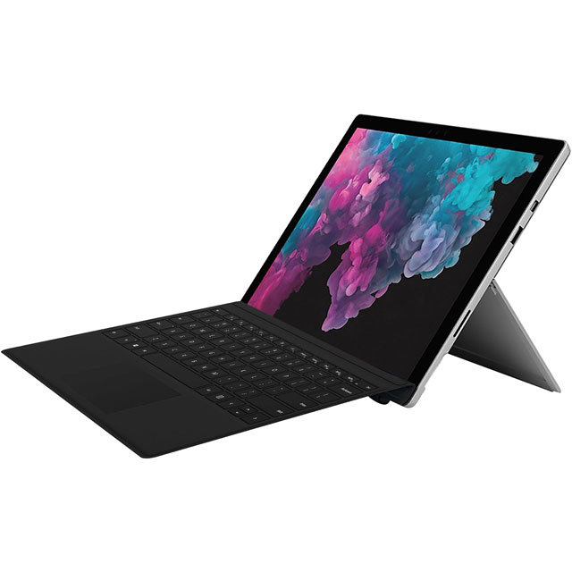 "Microsoft 12.3"" Surface Pro 6 Platinum Includes Black Surface Typecover [2018] - KJT-00002BUN - 1"