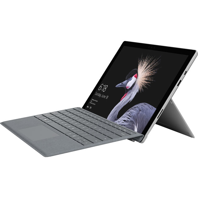 "Microsoft Surface Pro 12.3"" 2-in-1 Laptop Includes Platinum Keyboard Cover [2017] - Silver - KLJ-00003 - 1"