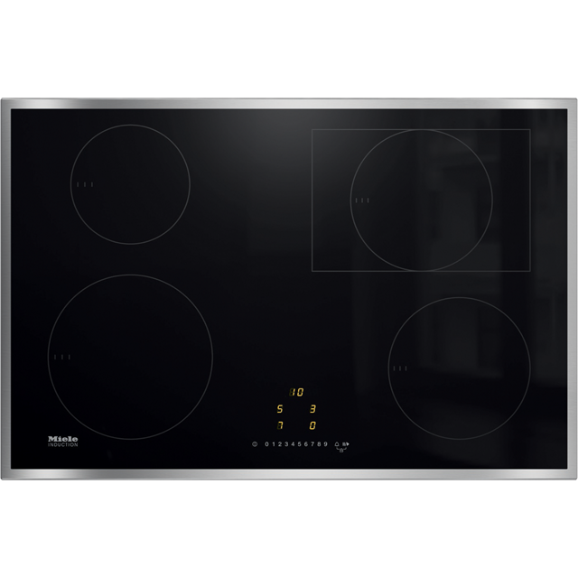 Miele KM7210FR 76cm Induction Hob - Black - KM7210FR_BK - 1