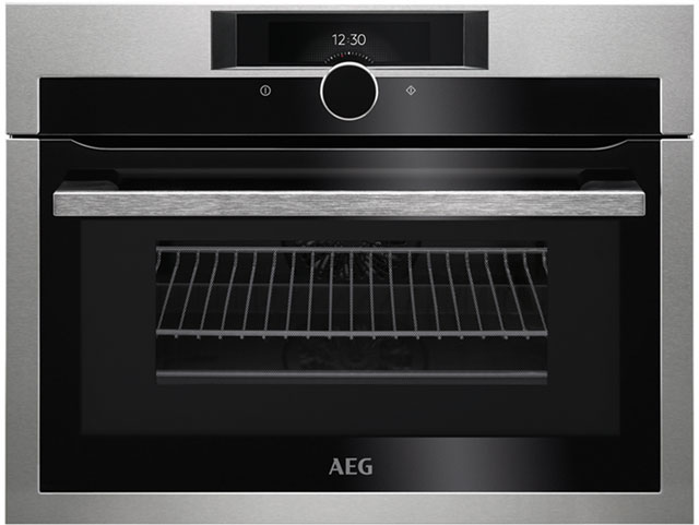 AEG KME861000M Built In Compact Electric Single Oven with Microwave Function - Stainless Steel
