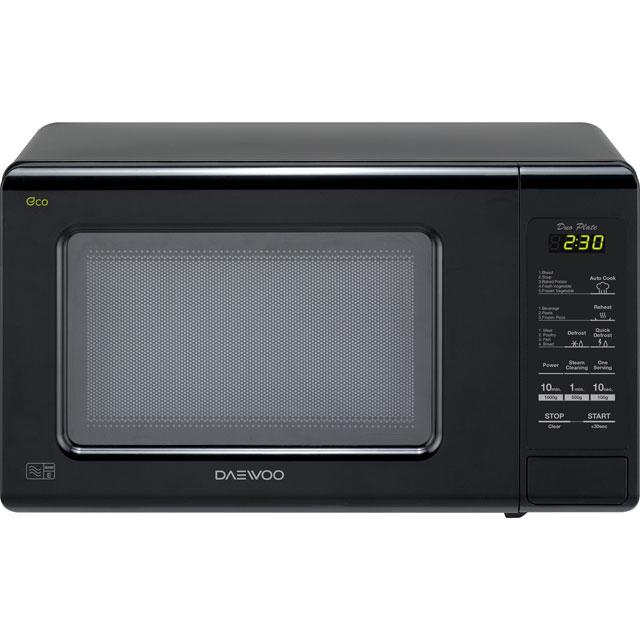 Daewoo DuoPlate KOR6M1RDBK Free Standing Microwave Oven in Black