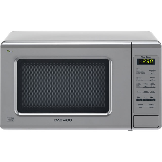 Daewoo DuoPlate KOR6M1RDSL Free Standing Microwave Oven in Silver
