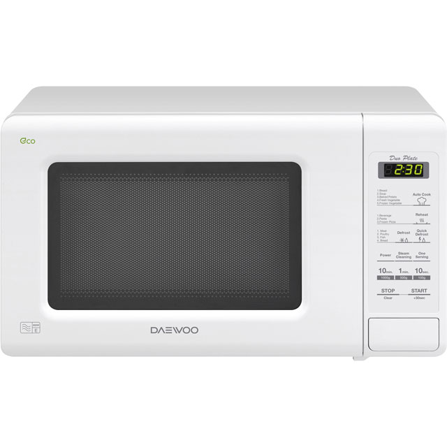 Daewoo DuoPlate KOR6M1RDW Free Standing Microwave Oven in White