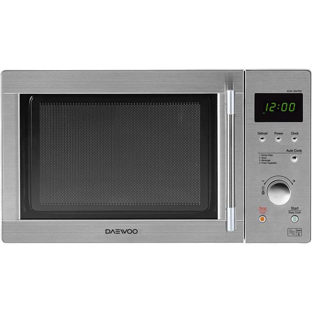 Daewoo KOR6N7RS Free Standing Microwave Oven in Silver