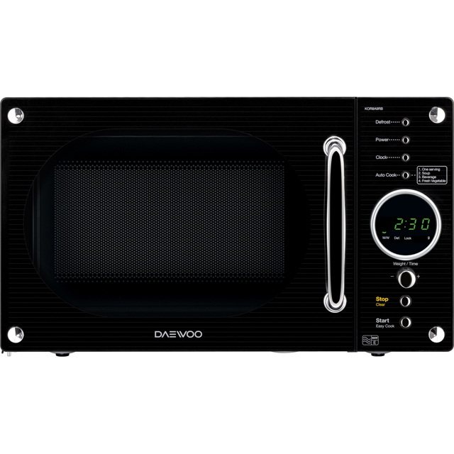 Daewoo KOR8A9RB Free Standing Microwave Oven in Black