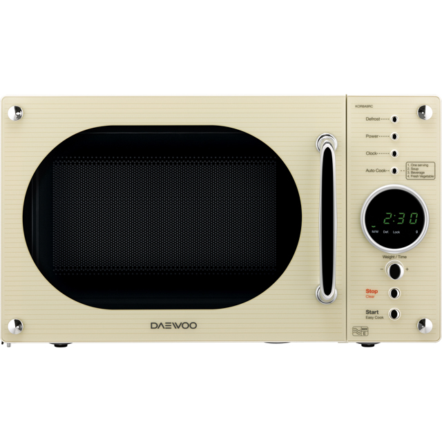 Daewoo KOR8A9RC Free Standing Microwave Oven in Cream