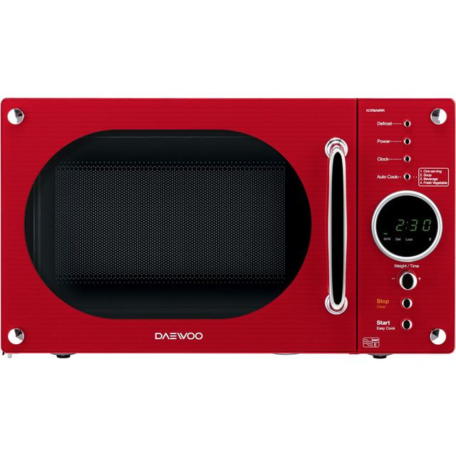 Daewoo KOR8A9RR Free Standing Microwave Oven in Red