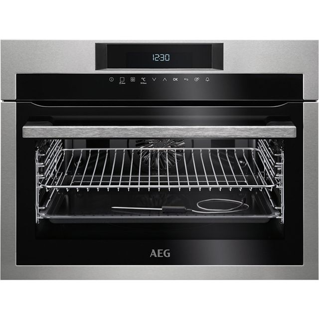 AEG KPE742220M Built In Compact Electric Single Oven - Stainless Steel - A+ Rated - KPE742220M_SS - 1