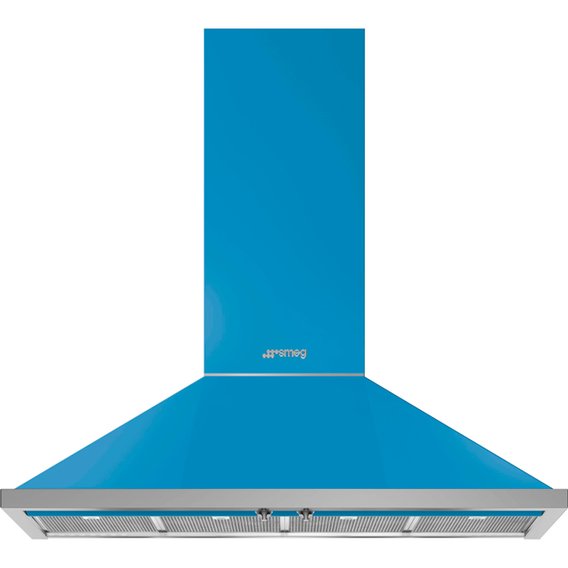 Smeg Portofino KPF12T 120 cm Chimney Cooker Hood - Turquoise - A+ Rated