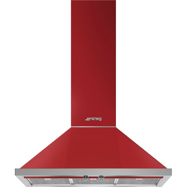 Smeg Portofino KPF9RD 90 cm Chimney Cooker Hood - Red - A+ Rated - KPF9RD_RD - 1