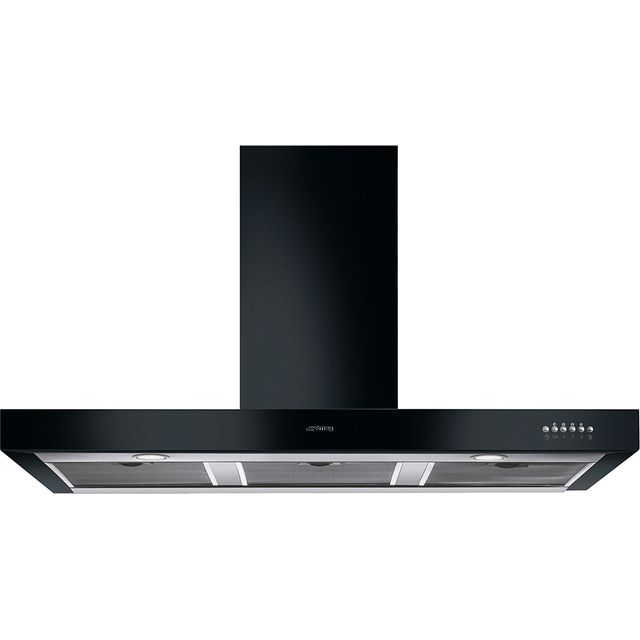 Smeg Symphony KS110BLE 110 cm Chimney Cooker Hood - Black - B Rated