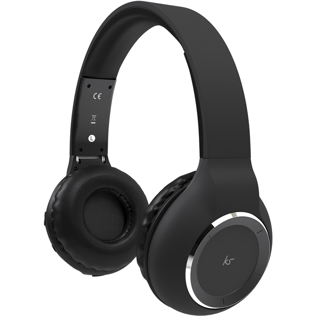 Kitsound Arena On-Ear Wireless Headphones - Black - KSARENMBK - 1