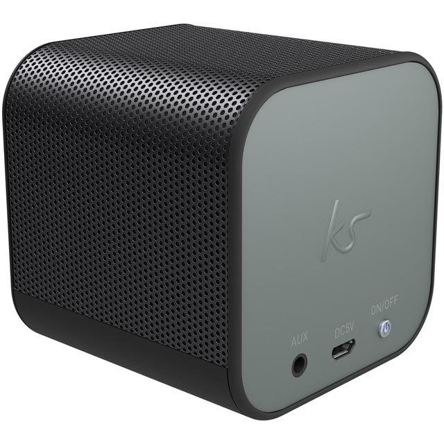 Kitsound Boom Cube Wireless Speaker - Gun Metal - KSBMCBGM - 1