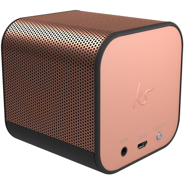 Kitsound Boom Cube Wireless Speaker - Rose Gold - KSBMCBRG - 1