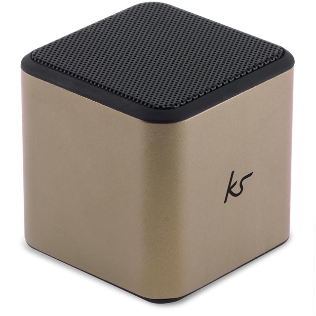 Kitsound Cube Wireless Speaker - Gold - KSCUBBTGD - 1