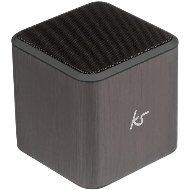 Kitsound Cube Wireless Speaker - Gun Metal - KSCUBTGM - 1