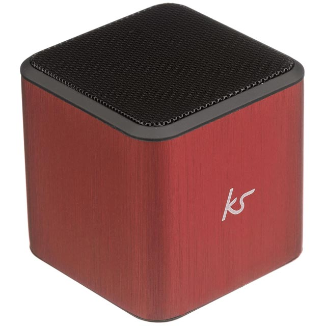 Kitsound KSCUBTRD Wireless Speaker in Red / Grey