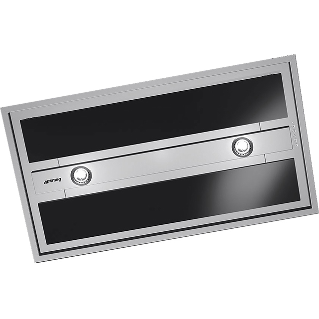 Smeg 90 cm Ceiling Cooker Hood - Stainless Steel / Black - A Rated