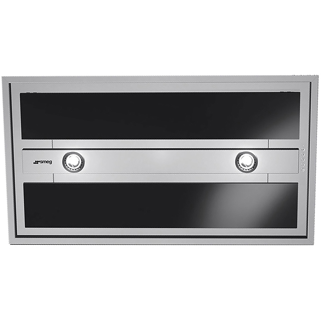 Smeg KSEG90VXNE-2 Built In Integrated Cooker Hood - Stainless Steel / Black - KSEG90VXNE-2_BK - 1