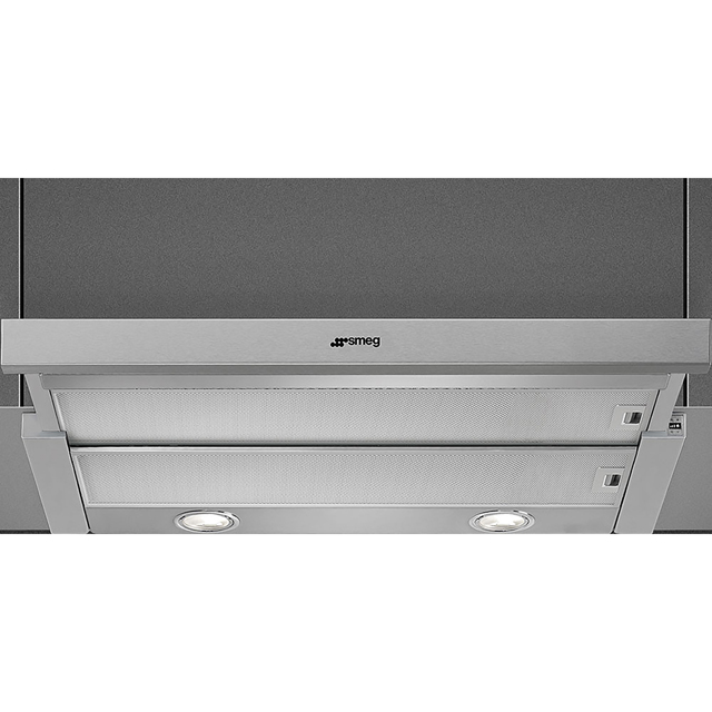 Smeg KSET600XE Built In Integrated Cooker Hood - Grey - KSET600XE_GY - 2