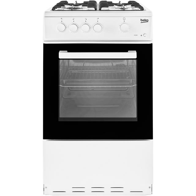 Beko KSG580W 50cm Gas Cooker - White - A Rated - KSG580W_WH - 1