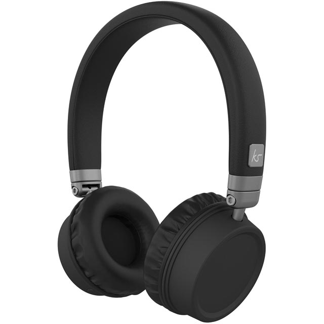 Kitsound Harlems On-Ear Wireless Headphones - Black - KSHARBK - 1