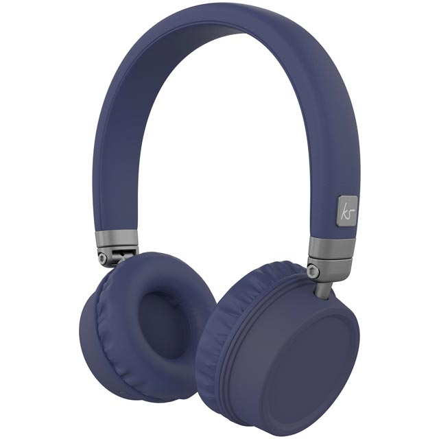 Kitsound Harlems On-Ear Wireless Headphones - Blue