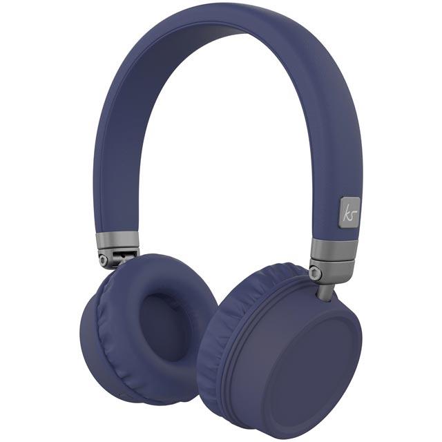 Kitsound Harlem KSHARBL Headphones in Blue