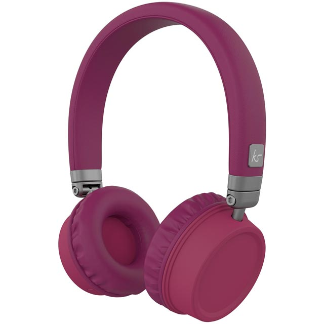 Kitsound Harlems On-Ear Wireless Headphones - Purple - KSHARPU - 1
