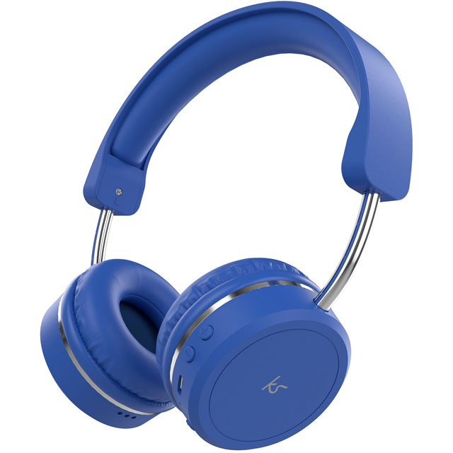 Kitsound On-Ear Wireless Bluetooth Headphones - Blue