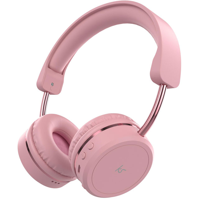 Kitsound On-Ear Wireless Bluetooth Headphones - Pink