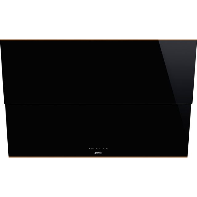 Smeg Dolce Stil Novo KSVV90NRA Built In Chimney Cooker Hood - Black / Copper - KSVV90NRA_BKC - 1