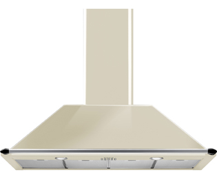 Smeg 110 cm Chimney Cooker Hood - Cream - A Rated