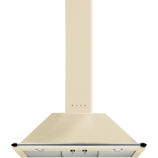 Smeg Victoria KT90PE 89 cm Chimney Cooker Hood - Cream - A Rated - KT90PE_CR - 1