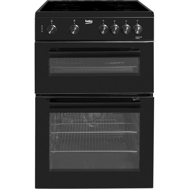 Beko KTC611K 60cm Electric Cooker with Ceramic Hob - Black - A Rated - KTC611K_BK - 1